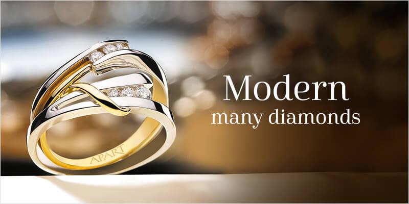 modern many diamonds